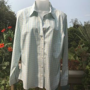 Lands End Plaid shirt (green/yellow/blue) size 18